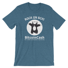 "Bitcoin Cash ""Rock On..."" Graphic Bella & Canvas 3001 T-Shirt"