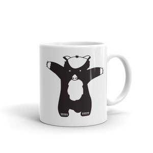 "Bitcoin Cash ""max badger"" Try Me B/W Mug"