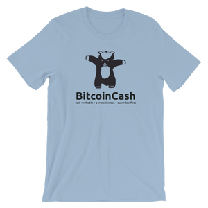 "Bitcoin Cash ""max badger"" Bella & Canvas 3001 T-Shirt"