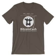 "Bitcoin Cash ""RFC 1925"" Distressed Graphic Bella & Canvas 3001 T-Shirt"