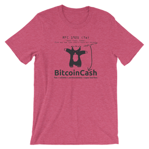 "Bitcoin Cash ""RFC 1925"" Bella & Canvas 3001 T-Shirt"