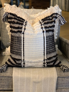 Textured Black & White Pillow
