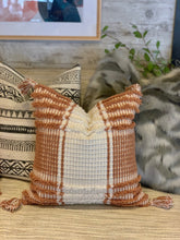 Textured Terracotta & White Pillow
