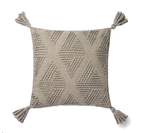 Textured Grey Pillow