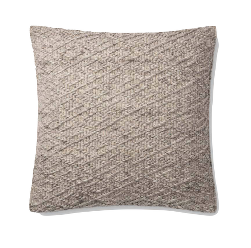 Grey Textured Pillow