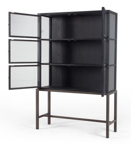 Drifted Black Stacy Cabinet