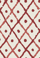 Red Trellis Wallpaper