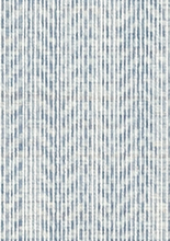 Blue Herringbone Wallpaper