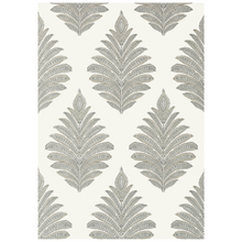 Grey Penney Leaf Wallpaper