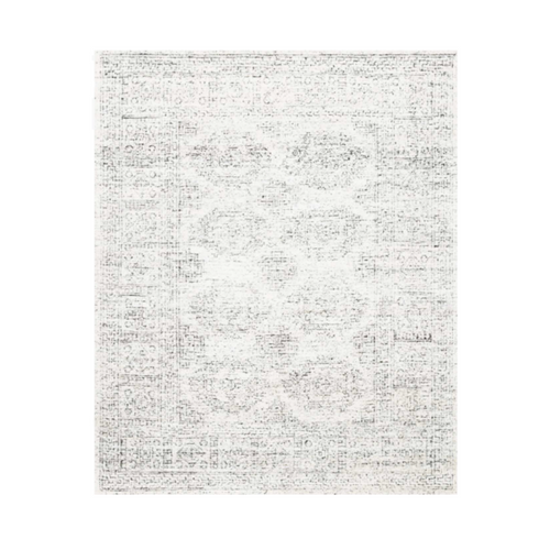 Vera Black on White Rug