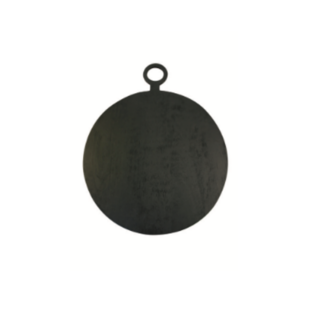 Round Black Wood Board