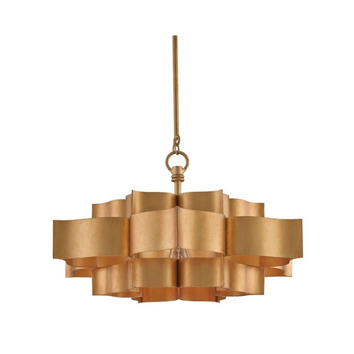 Gold Lotus Chandelier