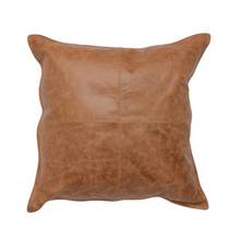 Chestnut Leather Pillow