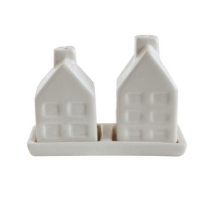 Ceramic House Salt & Pepper Shakers