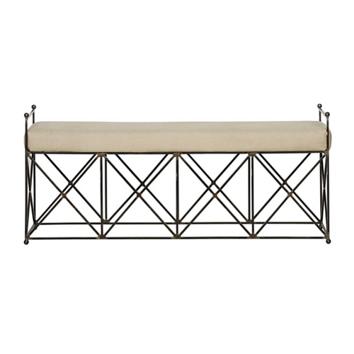 Industrial Upholstered Bench