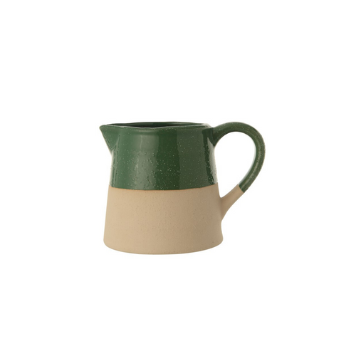 Stoneware Two Tone Pitcher