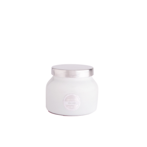 Petite Volcano Candle in White