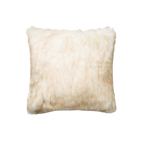 Ivory & Camel Fur Pillow