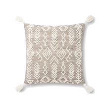 Textured Grey and Ivory Pillow