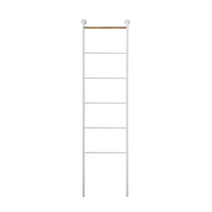 White Metal and Wood Ladder