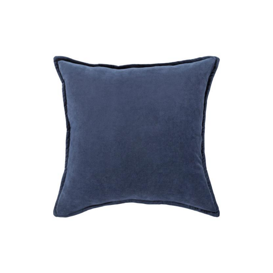 Denim Blue Velvet Pillow