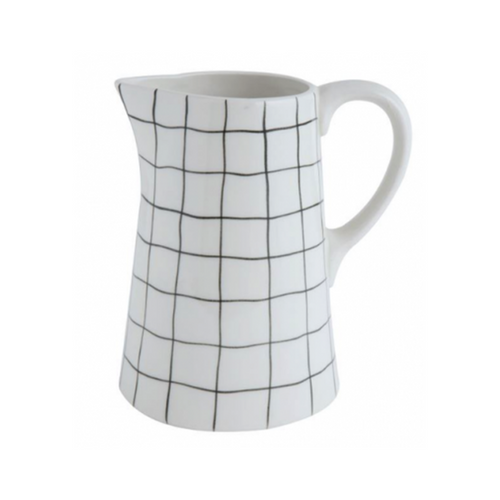 Black Grid Pitcher