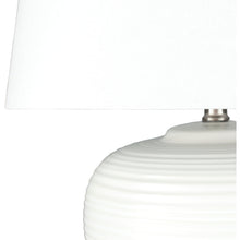 White Round Table Lamp