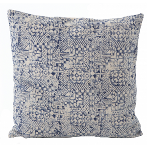 Faded Mosaic Print Pillow