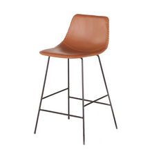 Tan Leather Counter Stool