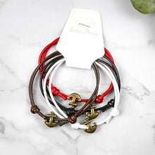 Handmade Anchor Bracelets (4pcs/set)
