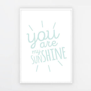 "Quadro ""You are my sunshine"" Azul - G"