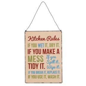 "PLACA ""Kitchen Rules"""