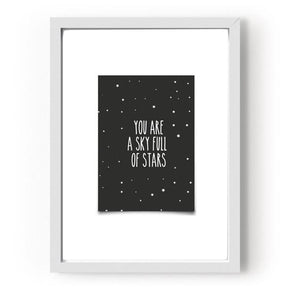 "QUADRO  ""YOU ARE A SKY FULL OF  STARS""  P"