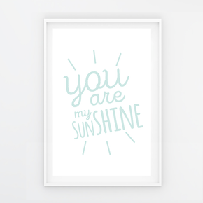 "Quadro ""You are my sunshine"" Azul P"