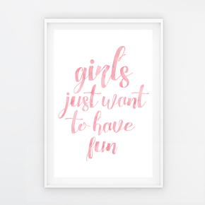 "Quadro ""Girls just want..."" Rosa - P"