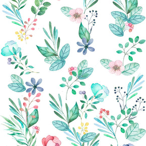 Papel de Parede Floral Aquarelado Tons Escuros Exclusiva