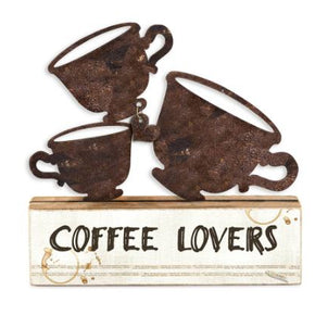 Escultura xícaras coffee lovers
