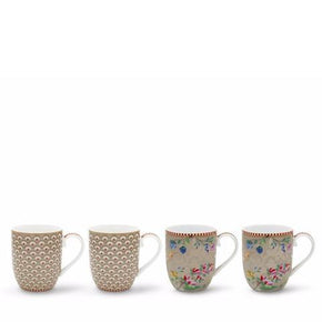 SET 4 CANECAS BLOOMING PIP STUDIO - KHAKI