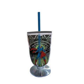 TAÇA COM CANUDO - SUPERMAN