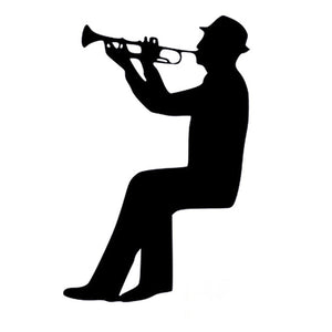 Vinyl Wall Decal Trumpet Musical Instrument Music Notes Stickers Mural Wallstickers4you