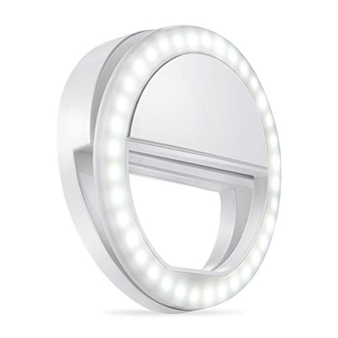 Selfie Ring Light with 36 LED Bulbs for Phone/Tablet/ iPad/Laptop Camera (White)