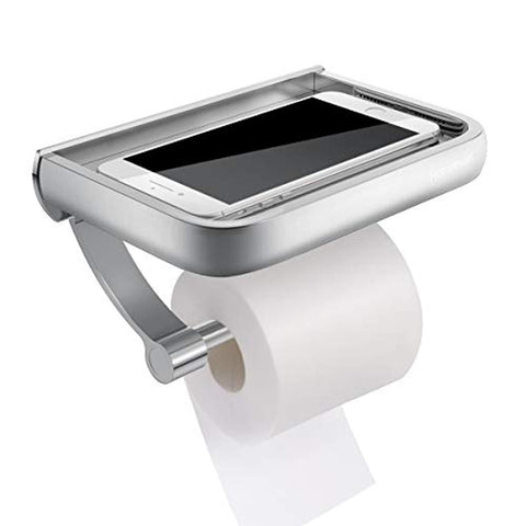 Toilet Paper Holder with Space Shelf for Mobile Phone