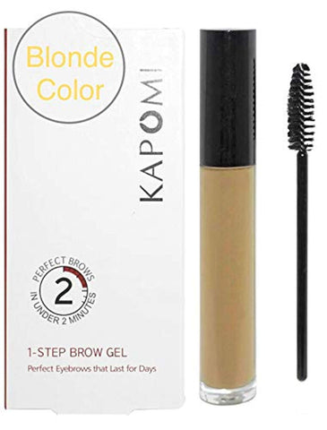Kapomi Eyebrow Gel One Step Brow Gel Makeup Perfect Eyebrows in 2 Minutes! (Blonde)
