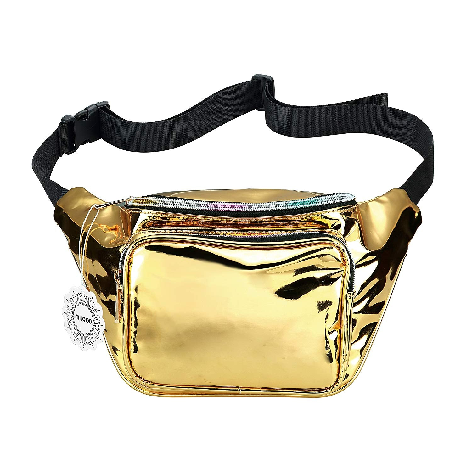 fb2dc27bfdbe Womens Shiny Neon Fanny Pack Bag - Great for Rave Festival Hologram ...