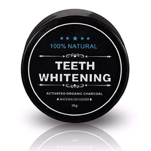 100% Natural Organic Activated Charcoal Teeth Whitening Powder (30 gram)