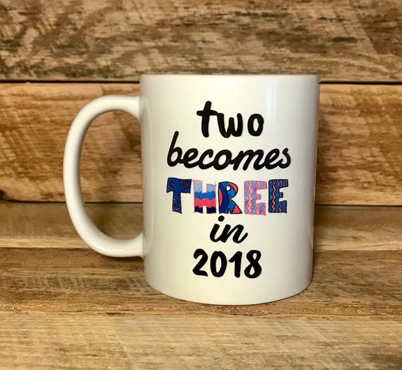 birth announcement mug for new grandparent
