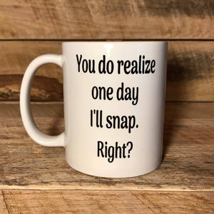 funny coffee mug with saying gift for mom gift for sister