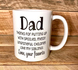 funny coffee mug coffee cup for dad fathers day gift
