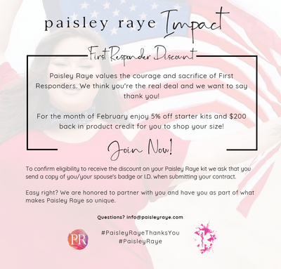 First Responder Discount on Paisley Raye Kits