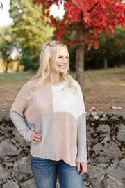 Step Out Of The Boxy Sweater In Mauve - Women's Clothing AfterPay Sezzle KanCan Judy Blue Simply Sass Boutique